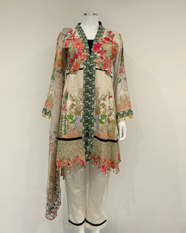 Chikankari Printed Dress Suit