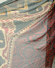 AS Deep Red Chikan Lawn Suit