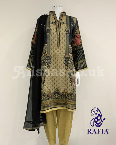RAFIA Digital Print Linen Suit