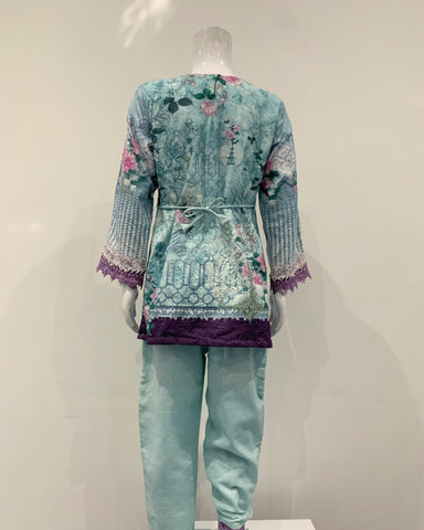 Embroidered Cotton Girls Suit