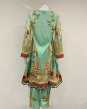 Chikankari Digital Printed Hem Dress Suit