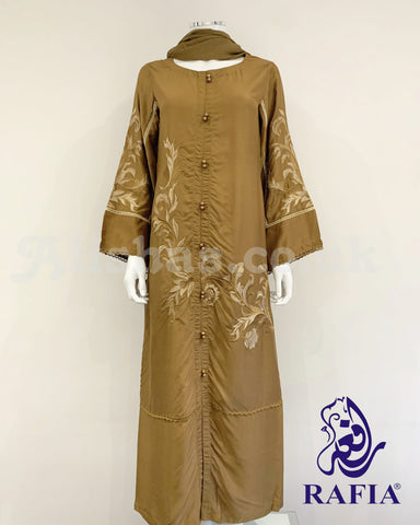 RAFIA Ladies Embroidered Abaya with Duppata