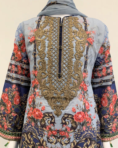 Girls Designer Printed Lawn Suit