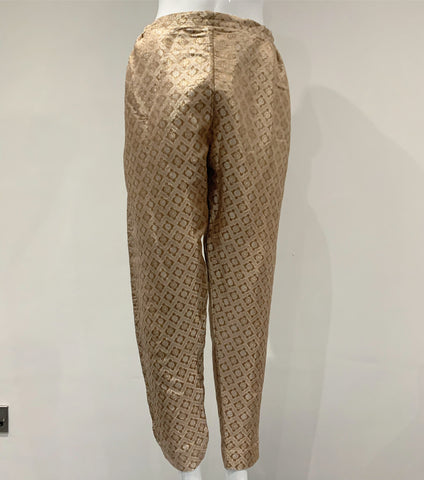 Gold Jamawar Trouser