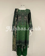 Emerald Green Digital Lawn Suit