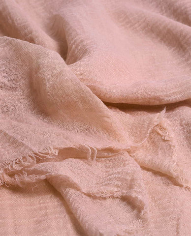 CRIMP HIJAB IN BABY PINK
