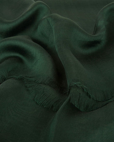 CLASSIC SILKY FINISH HIJAB IN BOTTLE GREEN