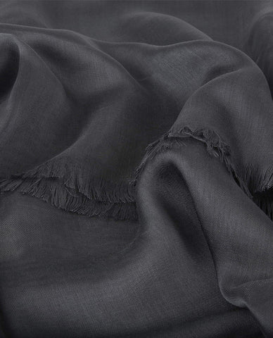 CLASSIC SILKY FINISH HIJAB IN CHARCOAL GREY