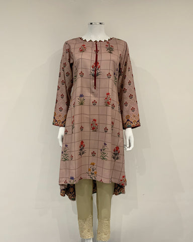 RAFIA Designer Blush Hem Dress Printed Kurta