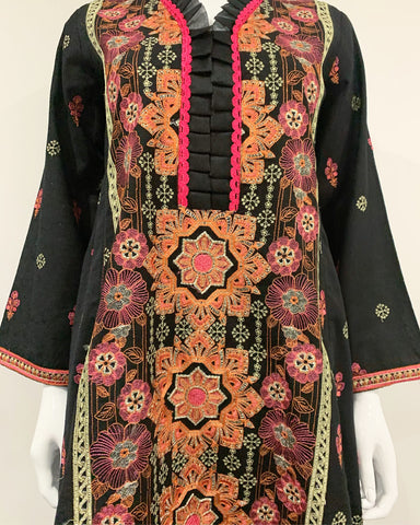 Premium Winter Khaddar Dress Hem Tail Suit with Warm Shawl