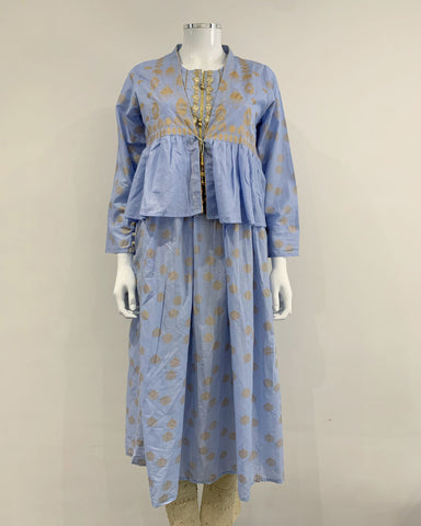 Long Lawn Jacket Dress Kurta