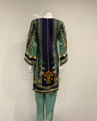 RAFIA Designer Sea Green Suit
