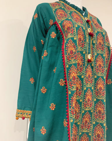 Premium Winter Khaddar Frock Suit with Warm Shawl