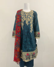 TEHZEEB Girls Lawn Dress Suit