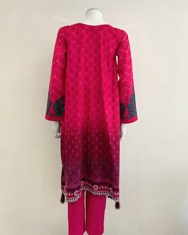 Pink Baggy Frock Dress Suit