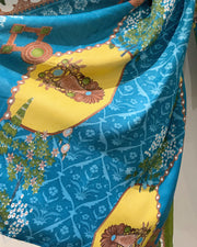 Golden Soft Twill Shawl Suit