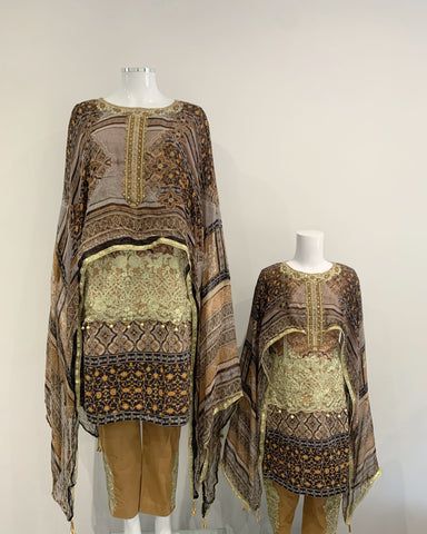 IVANA Ladies Designer Lawn Kameez Cape Suit