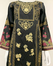 AS Black Embroidered Lawn Suit