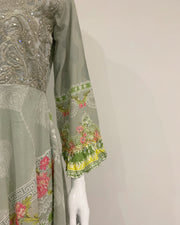 Designer Ladies Pale Green Lawn Dress Suit