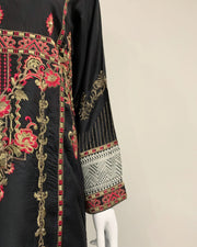 RAFIA Black and Red Contrast Designer Suit