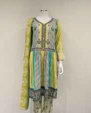 Multi Frock Linen Dress Suit