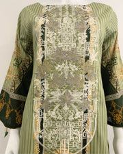 Lime Printed Lawn Suit