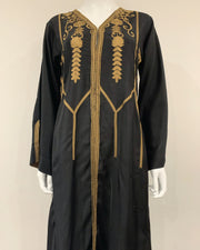 RAFIA Designer Black Embroidered Jacket Gown