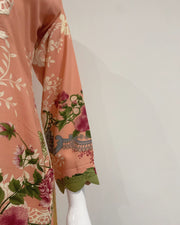 Peach Embroidered Linen Suit