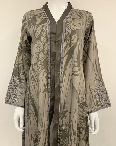 RAFIA Designer Grey Jacket Gown