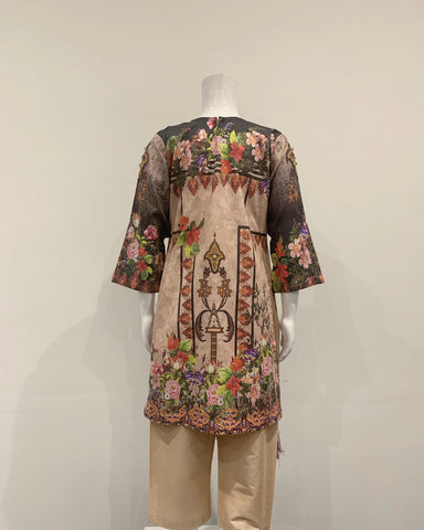 Girls Embezzled Kameez Printed Lawn Suit