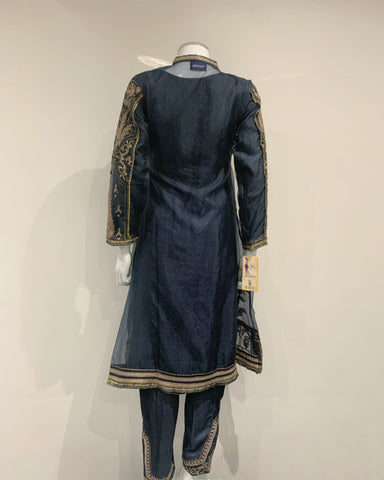 RAFIA Designer Zink Net Embroidered Jacket Suit