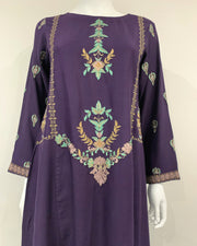 Clasico Elura Plum Embroidered Suit