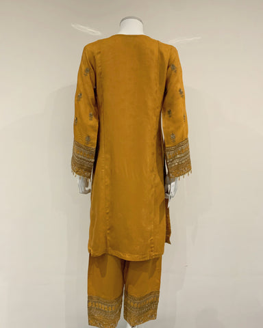 RAFIA Designer Mustard Antique Suit