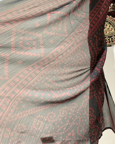 AS Maroon Embroidered Lawn Suit