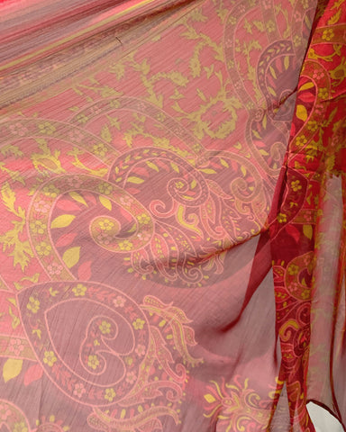 AS Deep Red Embroidered Lawn Suit
