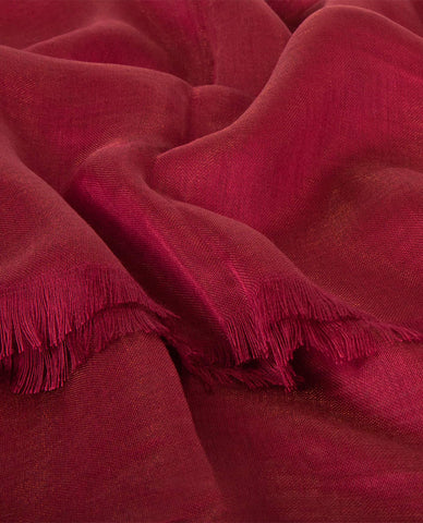 CLASSIC SILKY FINISH HIJAB IN RUBY