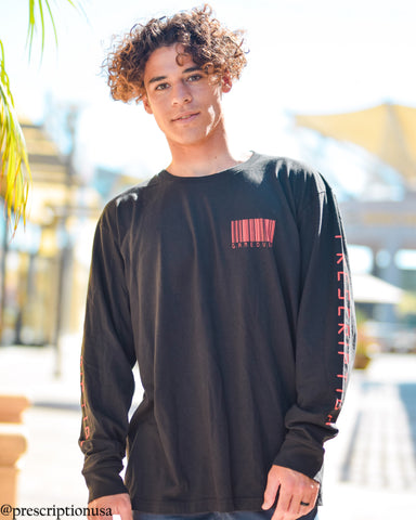 G.A.M.E. 0.V.E.R. - Long Sleeve Black & Red