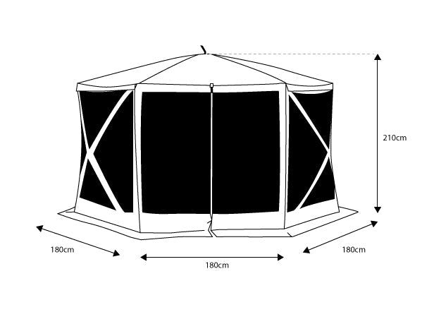 Oztent Screen House Hex