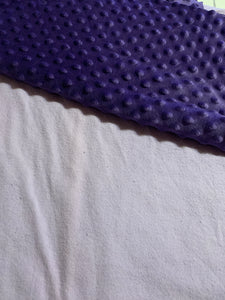 Lavender flannel with purple minky dot backing