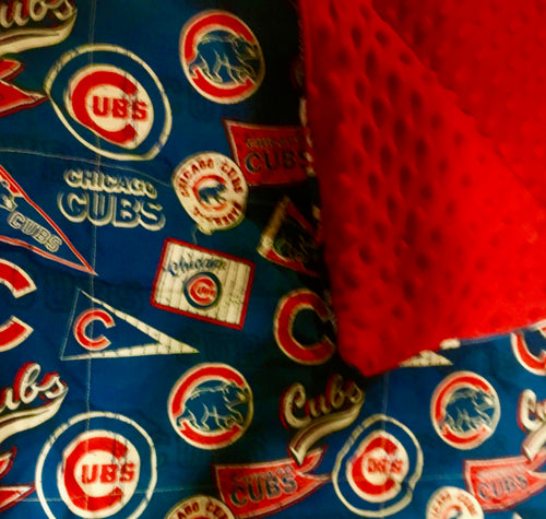 Chicago Cubs Weighted Blanket