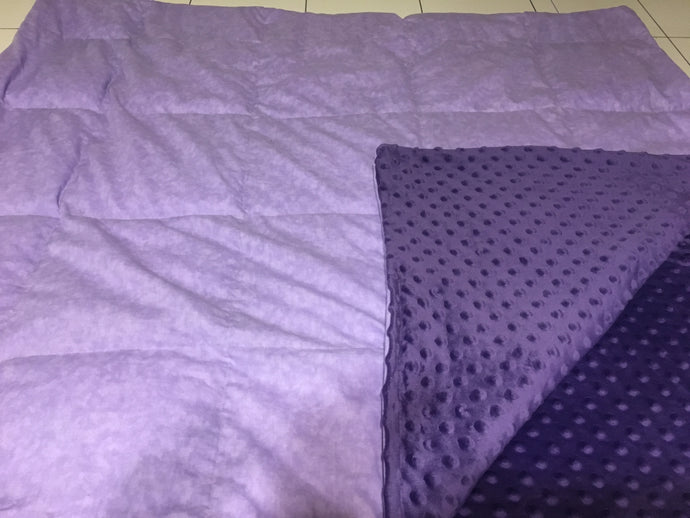 Lavender and Purple Blanket