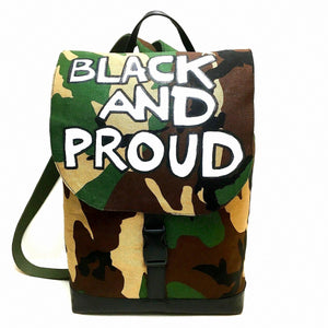 Black and Proud Camo Backpack