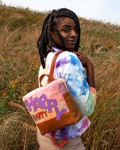 HAPPY Tie Dye Canvas and Leather Backpack