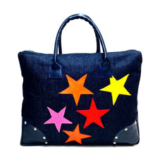 HAPPY Denim Duffel Tote