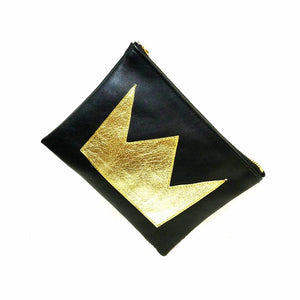 Queen Crown Leather Clutch