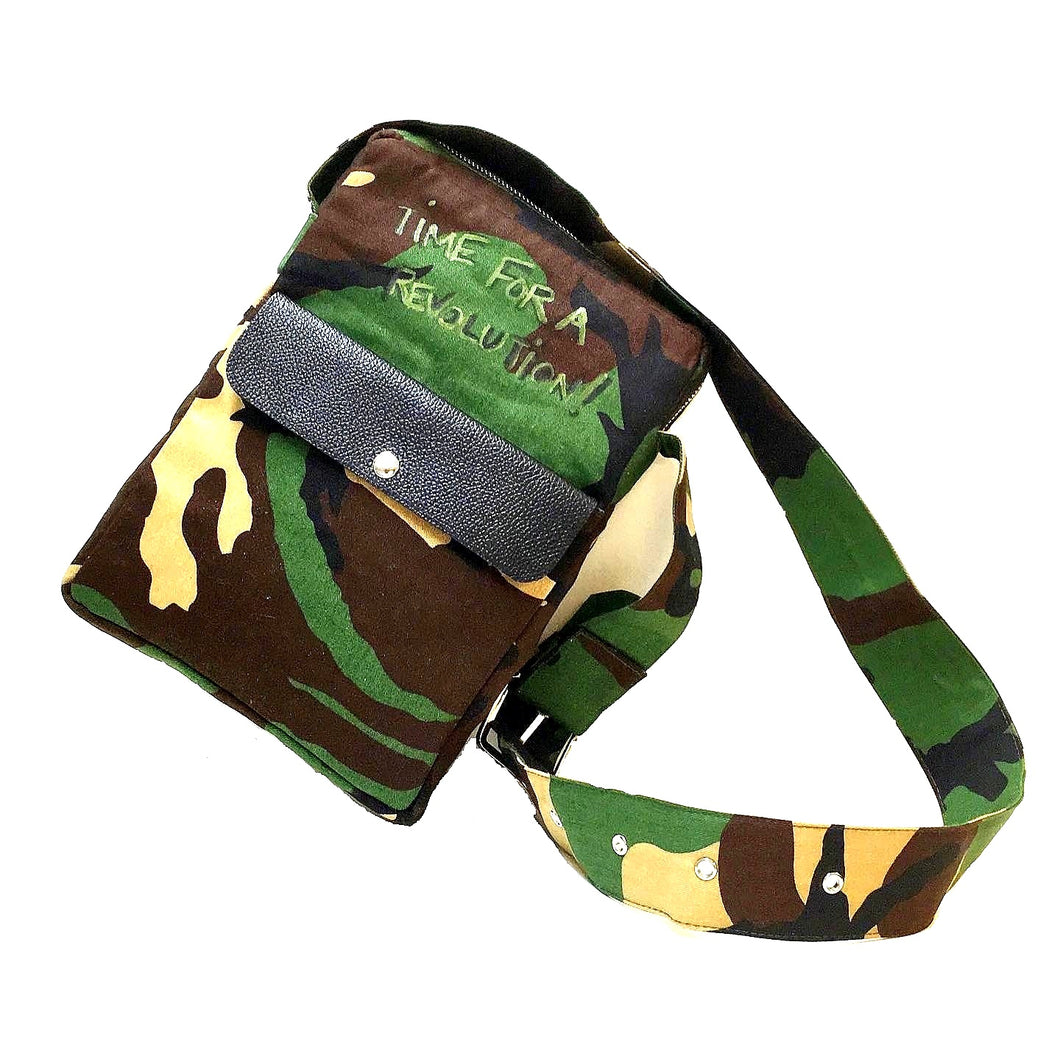 Time For A Revolution Camo Crossbody