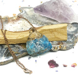 Blue Apatite Copper Necklace