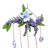 Lavender and Amethyst Wall Hanging