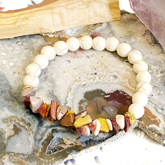 Howlite and Mookaite Bracelet