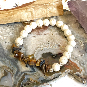 Howlite and Tiger Eye Bracelet